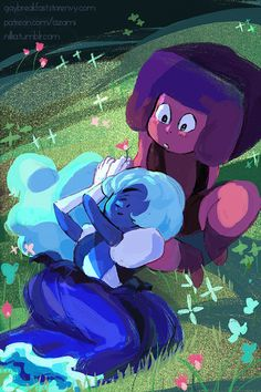 """nillia: """" Dedicated to my wife @stuffinfluffcooking.  Every new Ruby Sapphire episode is so meaningful and beautifully executed. I've lost track of how many times I've replayed that clip. It inspires and reminds me of the best of us: that being that..."""