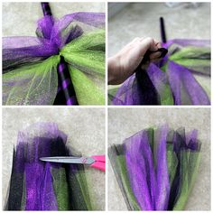 How to create an adorable witches broom with tulle, perfect for decoration or costume building halloween babyshower Homemade Witch Costume, Kids Witch Costume, Homemade Halloween, Halloween Costumes, Halloween Stuff, Halloween Crafts, Halloween Ideas, Halloween Party, Halloween Skirt