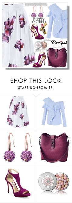 """Rosegal 57"" by ramiza-rotic ❤ liked on Polyvore featuring FAIR+true, Jimmy Choo, Guerlain and Avon"