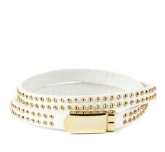 white studded leather bracelet