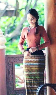 Myanmar longyi dress