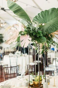 Floral Wedding Centerpieces Planning and Tips - Love It All Tropical Wedding Centerpieces, Tropical Wedding Reception, Hawaiian Party Decorations, Wedding Flower Arrangements, Flower Centerpieces, Floral Wedding, Floral Arrangements, Wedding Bouquets, Wedding Flowers
