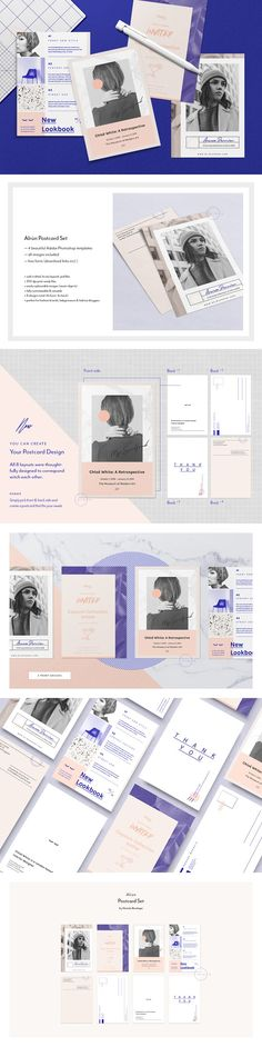 Set of Postcard Flyers • Alrún // Printable PSD template by Nonola on @creativemarket #newsletter #portfolio #psd #psdtemplate #feminine #flyer #nonola #ladypreneur #fashion #typography #palm #feminine #lifestyle #marketingtemplate #editorial #editorialtemplate #marketing #flyertemplate #postcarddesign #flyerdesign #stationerytemplate #fashionbrand #lifestylebrand #bloggerkit