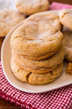 An easy recipe for super chewy brown sugar cookies. No mixer required!