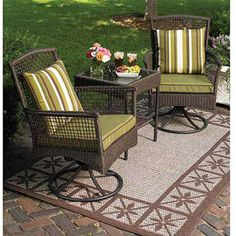 Better Homes and Gardens Bali Island 3-Piece Rocking Outdoor Bistro Set, Seats 2