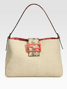 Fendi Borsa Mia Zucca Canvas Shoulder Bag 113