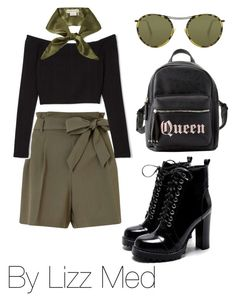 """""""Green Day"""" by lizz-med on Polyvore featuring moda, Miss Selfridge, Charlotte Russe, donni charm y Oliver Peoples"""