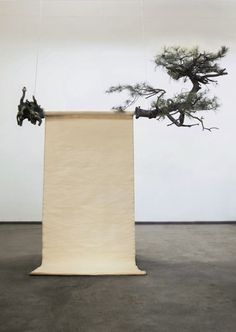 i never learn — Guo Gong - Pine, 2014 Wall Sculptures, Sculpture Art, Persian Garden, Tree Artwork, Bedroom Murals, Conceptual Design, Stage Design, Land Art, Chinese Art