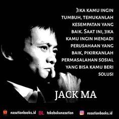 Jika kamu ingin tumbuh, temukanlah kesempatan yang baik. Saat ini, jika kamu ingin menjadi perusahaan yang baik, pikirkanlah permasalahan sosial yang bisa kamu beri solusi Jack Ma #jackma #jackmamanusiatriliunyuan #jackmasisisisitakterdugasanggodfatherbisnischina #jackmadanalibaba #kutipantokoh #KutipanBuku #nasutionbooks #nasutionbooksquote #marimembaca #dutabacaindonesia #bumimanusia #mahasiswa #mahasiswi #kampus #universitas Time Quotes, Daily Quotes, Words Quotes, Qoutes, Jack Ma, Business Quotes, Positive Thoughts, Leadership, Positivity