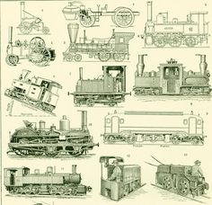 This is an antique french print from 1930. This lovely print comes from the Larousse Universel printed in Paris. This is the original print, not a copy. Frame it or use it ... #illustration #railroad