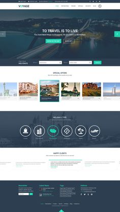 Free Travel Website Template PSD