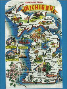Postcard - Greetings from Michigan