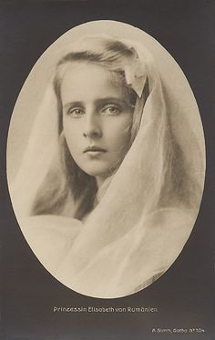 Princess Elisabeth of Romania as a young girl.  Though not as beautiful as her younger sister Marie, Elisabeth was still quite pretty.  Sad she didn't have children; I bet they would've been quite good looking.