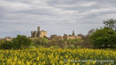 Warkworth Castle Northumberland. From Hermitage Hill.