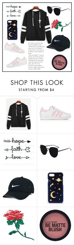 """""""Untitled #197"""" by neptxnes ❤ liked on Polyvore featuring adidas, NIKE, CHARLES & KEITH and band.do"""