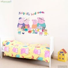 peppa pig stickers bedroom personalised sticker official stickerscape murals range wacapat
