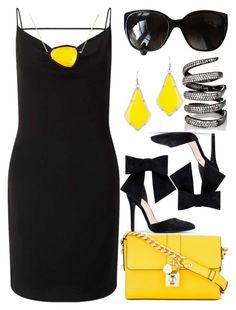 """""""Faulty Yellow"""" by egordon2 ❤ liked on Polyvore featuring Miss Selfridge, Dolce&Gabbana, Chloé, Kendra Scott, Christina Debs, Fallon and Chanel"""