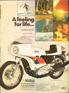 1974 Norton Commando 850 John Player Cafe Racer Ad