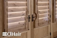 Knotty Alder plantation shutters from Austin Window Fashions