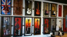 GFrames guitar display show room. GFrames.com