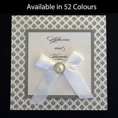 Wedding Invitation kits are a great way to save money and still get a professional look. This kit is just one of many that are available on our website. www.kardella.com. Available in more than 50 colours