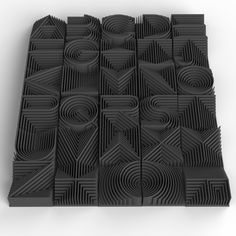 Heatwave 3d Printable Typeface on Behance