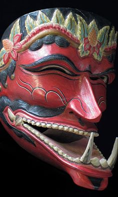 Cakil lower jaw mask from Java