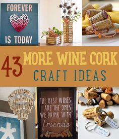 43 More Wine Cork Craft Ideas by DIY Ready at  http://diyready.com/more-wine-cork-crafts-ideas/