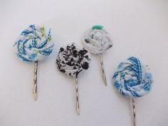 fabric flower bobby pins.