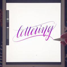 Got the iPad Pro  Apple Pencil  Procreate app. This is super fun! #ipadlettering by http://ift.tt/1PhMQYv