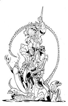 Alien vs Predator Coloring Pages Alien Predator Coloring Pages