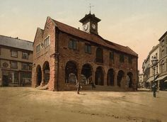 The first colour photographs of England - The Market Hall, Ross on Wye.  A bit more crowded when we stayed at Aunty Marjory & Uncle Harry's cottage on the Great Doward in 1973.