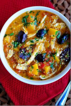 Chicken Stew with Butternut Squash & Quinoa | iowagirleats.com