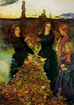 Folhas de outono, 1856 John Everett Millais (Inglaterra, 1829-1896) óleo sobre tela, 95 cm x  75 cm City Art Galleries, Manchester