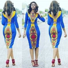 Simple Ankara Gown Design for Ladies http://www.dezangozone.com ...