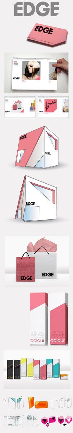 Creative and stylish design. EDGE by Anastasia Gerali, via Behance #identity #packaging #branding