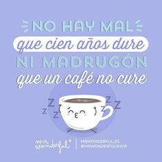 ¡Hoy uno de doble para todos, por favor! Nothing bad is here to stay and the bigger your coffee the better your day. Make mine a double, please! #mrwonderfulshop #quotes #coffee