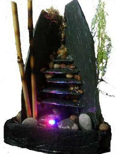 Fuente De Agua Feng Shui 5 Caidas C/luz ...armonía Y Estilo