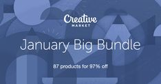 Check out January Big Bundle on Creative Market