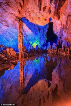 ✯ Rainbow Caves in the Reed Cave of Guangxi Province, China