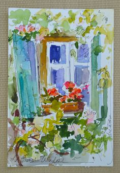 """Dreama's Daily Paintings and Writings: """"Postcards from France No. 4 and No.5"""""""