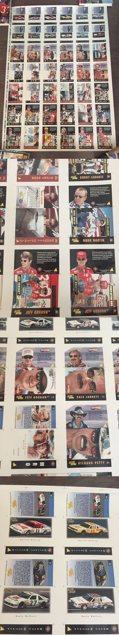 Auto Racing Cards 666: 1995 Jeff Gordon Action Packed Racing Uncut Collectors Sheet Nascar Cards Rare! -> BUY IT NOW ONLY: $49.95 on eBay!