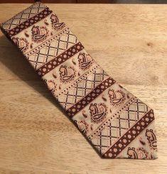 "Vintage BRONZINI  Mens Tie - Polyester -  4"" x 56""   #Bronzini #NeckTie"