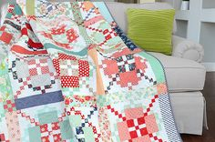APQ Quilt Along by croskelley - LOVE this quilt, want to make with Miss Kate fabrics by Bonnie & Camille