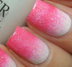 love these pretty pimk nails