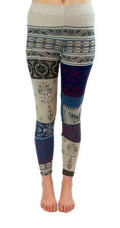 Free People Patchwork Legging in Ivory Combo at www.shopblueeyedgirl.com