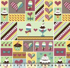 Estampa Sorvete Love | Desenho 2400 Variante 04
