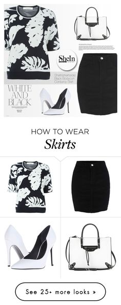 """Shein Skirt"" by tawnee-tnt on Polyvore featuring Cédric Charlier, Balenciaga and Kendall + Kylie"