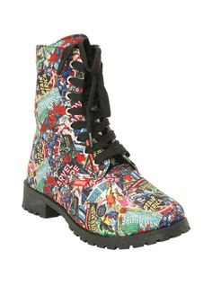 *Marvel* at these combat boots.
