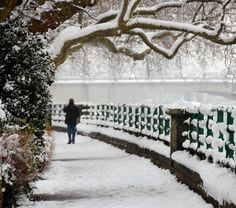 Bishop's Park, Fulham in the snow, London